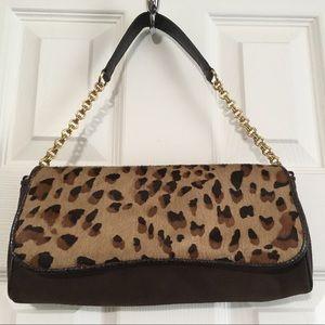 Ann Taylor leopard print purse. Tres chic!